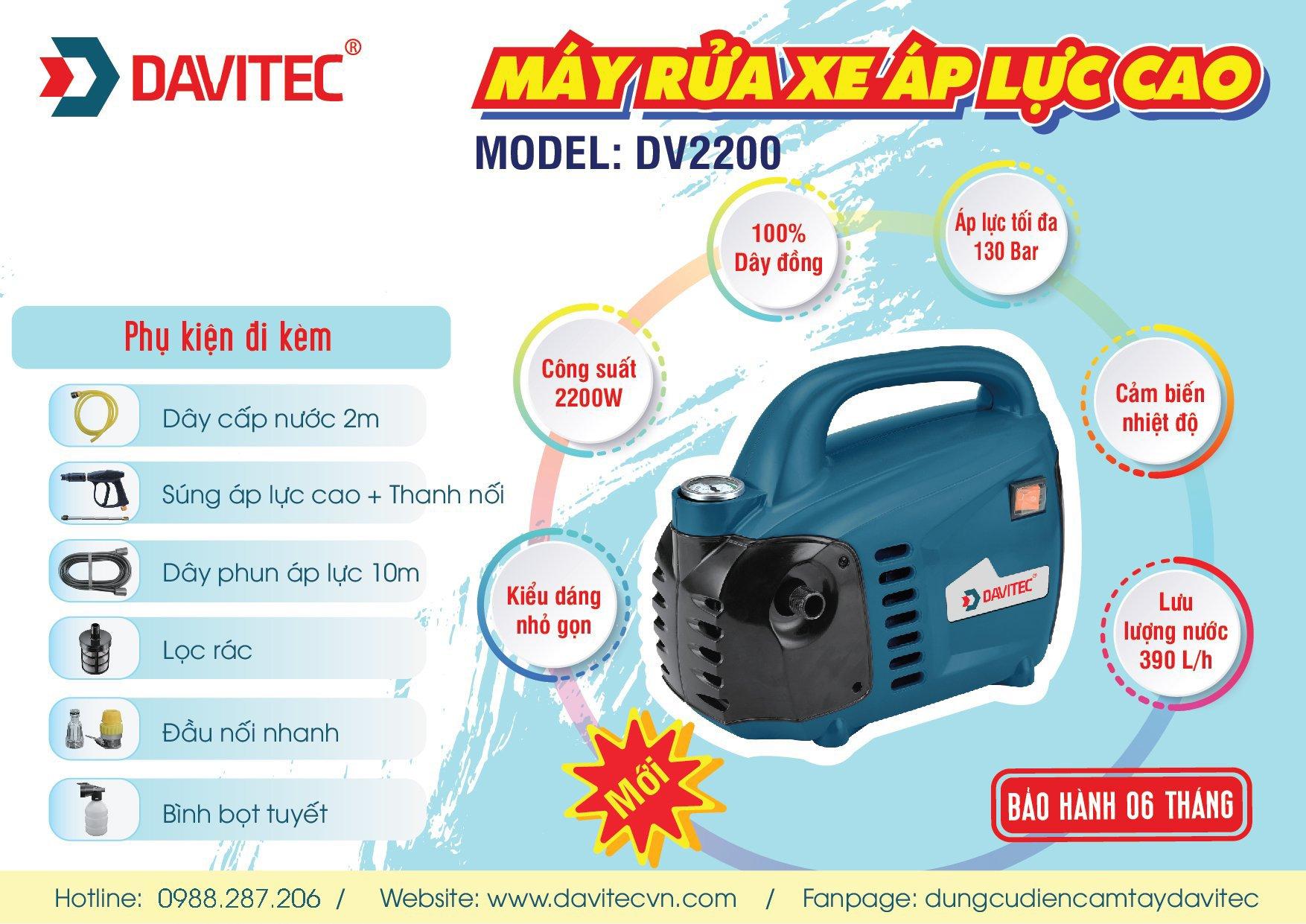 DV2200 - Máy rửa xe áp lực cao